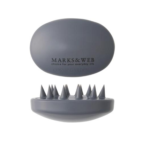 【楽天市場】MARKS&WEB マークス&ウェブ スカルプ マッサージブラシ グレー(しっ